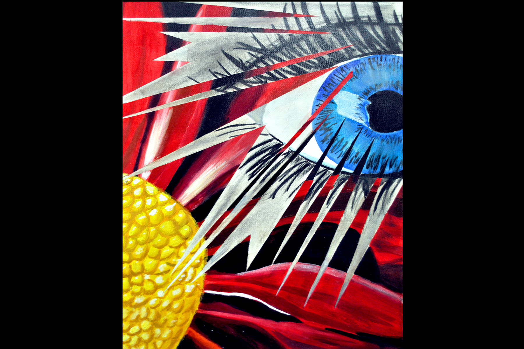Abstract of blue eye