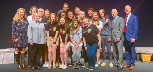 Laramie Project Cast with Mr. and Mrs Shepard