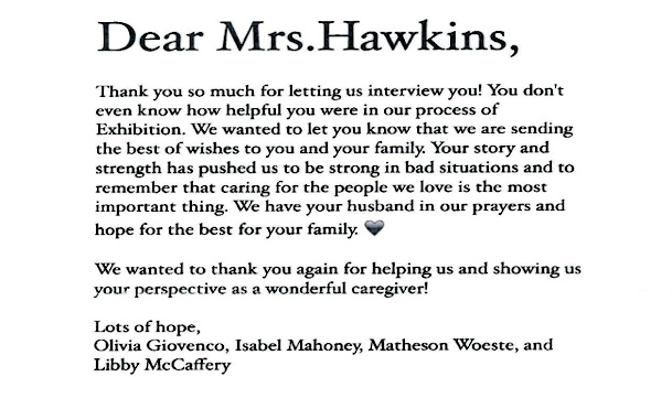 Letter to Mrs. Hawkins