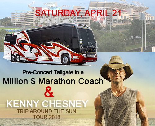 Tailgate on Marathon Coach & Kenny Chesney Concert