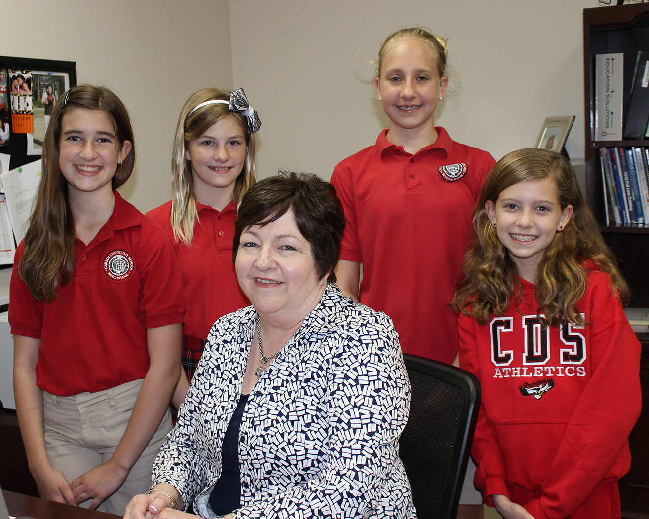 Mrs. Hawkins and fifth grade girls