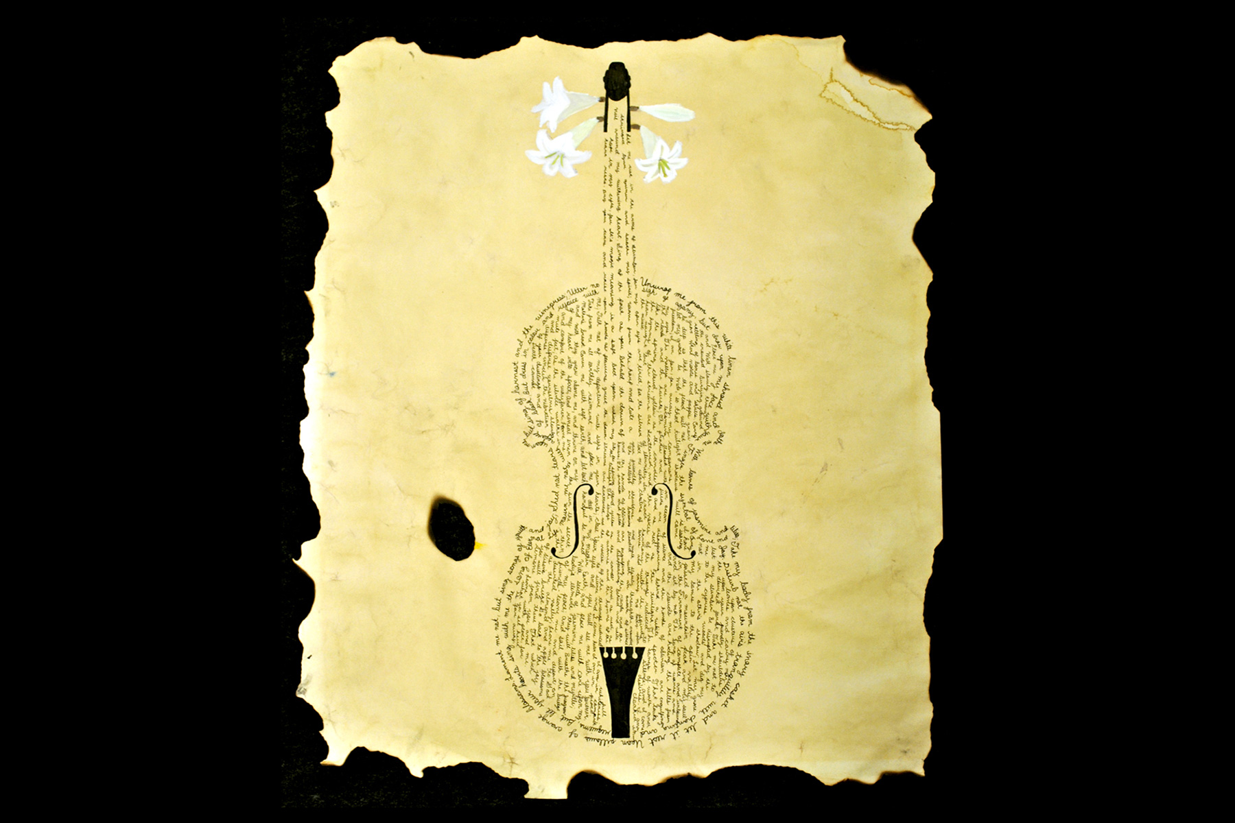 Pen and Ink Violin