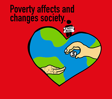 Poverty affects and changes society.