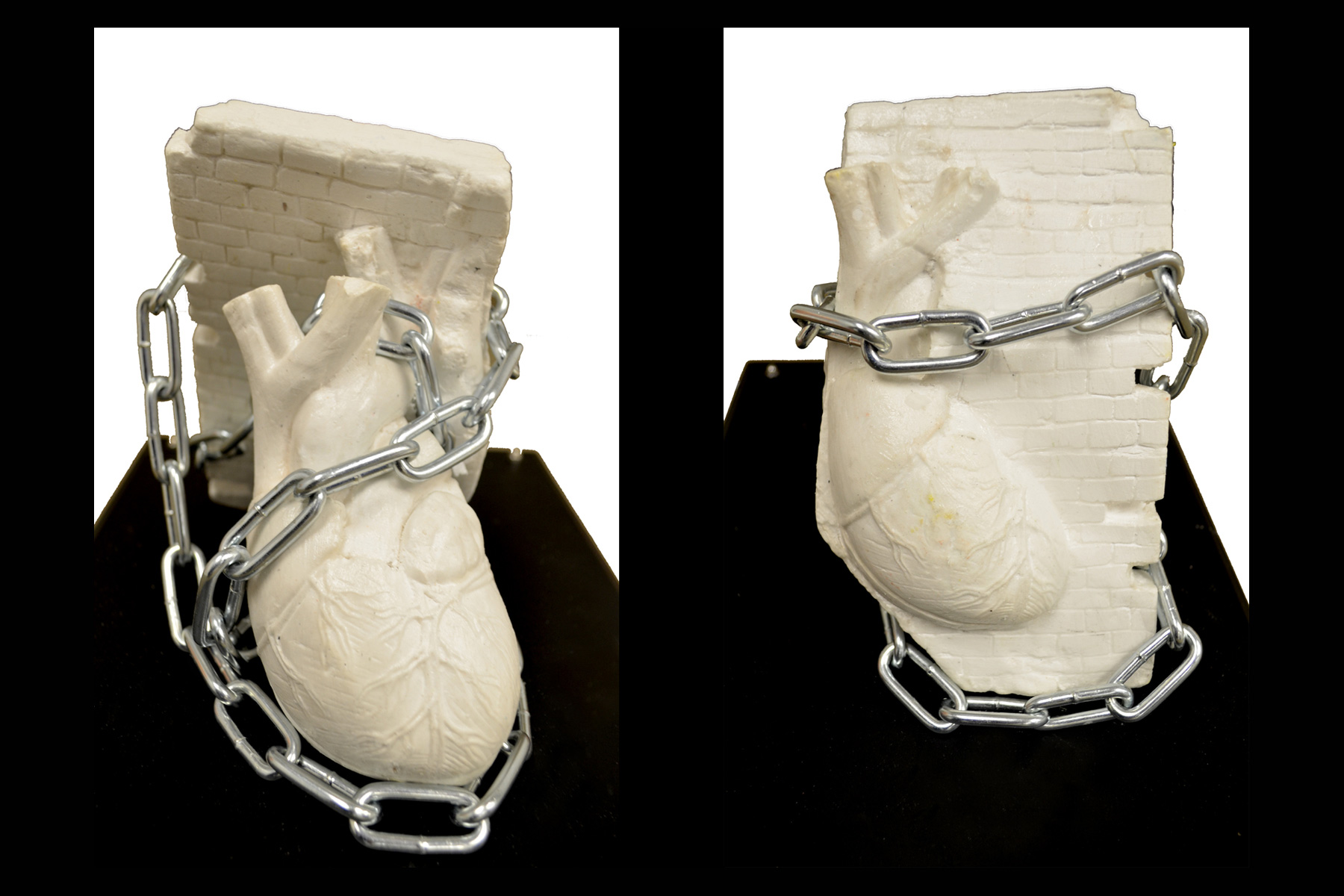 Sculpture of chained heart